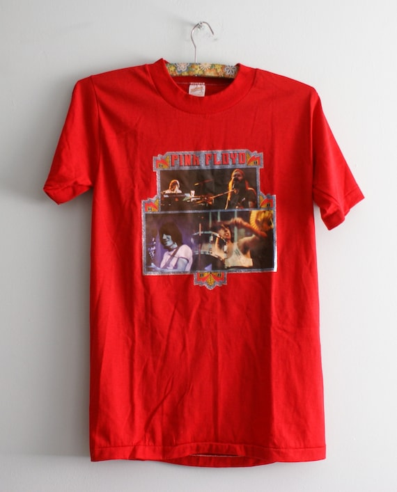 70s - 80s Pink Floyd T-shirt, Single Stitch Pink F