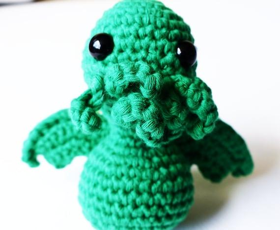Crochet Pattern Amigurumi Cthulhu Crochet Cthulhu Pattern Etsy