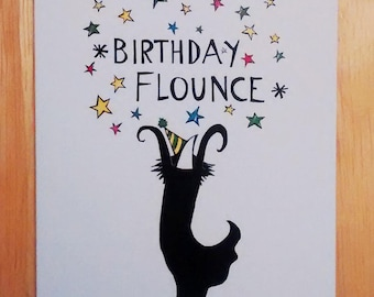Birthday Flounce card