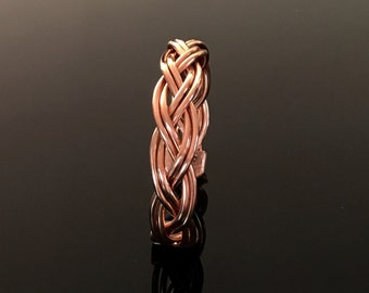 Magnetic bracelet in copper and brass, braided, with all its benefits
