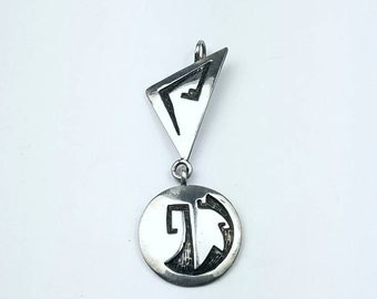 Native American Hopi handmade Sterling Silver pendant