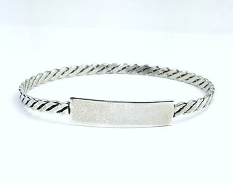 Native American Navajo handmade Sterling Silver bangle