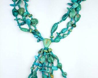 Vintage Native American Navajo handmade nugget necklace