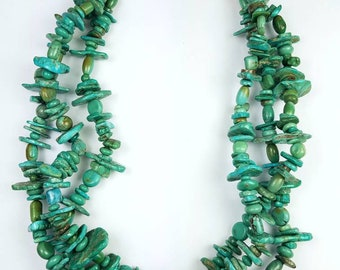 Native American Navajo handmade Turquoise nugget choker necklace