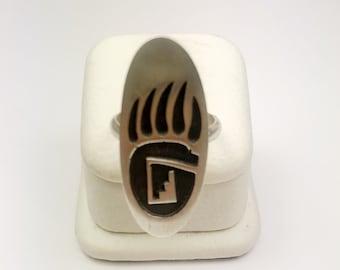 Native American Navajo Handmade Sterling Silver Antique Ring