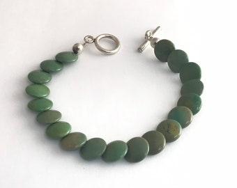 Native American Handmade Navajo Turquoise Bead Bracelet