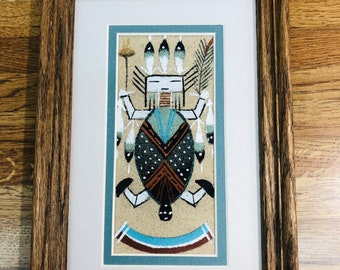 Authentic Native American Navajo Handmade Sand Painting