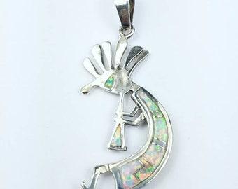 Native American Navajo handmade Sterling Silver multi-stone inlay reversible pendant