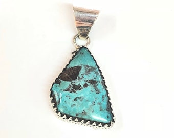 Native American Navajo Handmade Turquoise Pendent