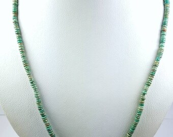 Native American Navajo handmade genuine Turquoise  bead necklace