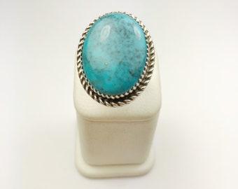 Native American Navajo Handmade Sterling Silver San Bernadino Ring