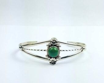 Native American Navajo handmade Sterling Silver Turquoise bracelet