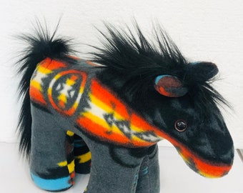 Native American Navajo handmade stuffed Horse by Artist Audris Jo