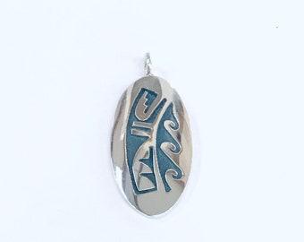 Native American handmade Hopi sterling silver pendant
