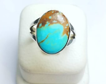 Native American Navajo handmade Sterling Silver Turquoise ring