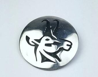Native American Hopi handmade Sterling Silver pendant/brooch