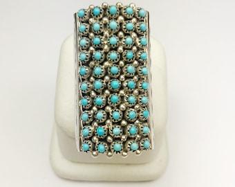 Native American Navajo Handmade Sterling Silver Sleeping Beauty Turquoise Ring