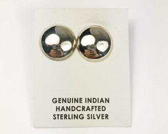 Native American Navajo Handmade Sterling Silver Earrings