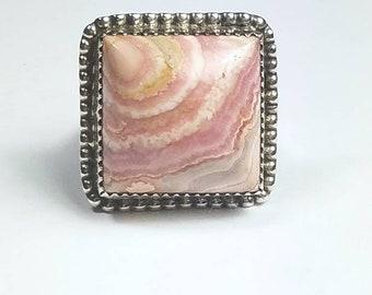 Native American Navajo handmade Sterling Silver Charoite ring