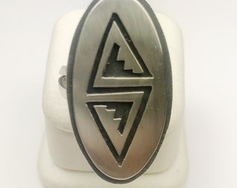 Native American Navajo Handmade Sterling Silver Hopi Antique Ring