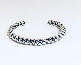 Native American Handmade Navajo Sterling Silver Cuff Bracelet