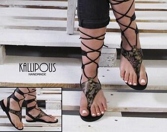 Stylish leather sandal