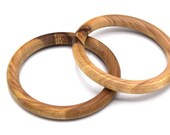x1 Corsican olive wood round bracelet turned by hand