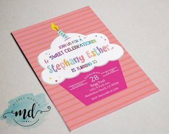 Cupcake Printable Invitation