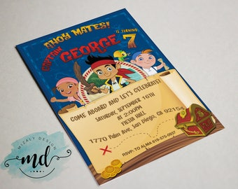 Jake and the neverland pirates Printable Invitation
