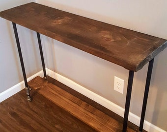 Charmant Narrow Console Table With Shelf, Buffet Table, Reclaimed Wood Table, Accent  Table, Long Sofa Table, Entry Hall Table,