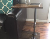 Side Table, Industrial C Table, Sofa Table, End Table, Coffee Table, Laptop Stand, Industrial Furniture, Industrial Pipe Table.