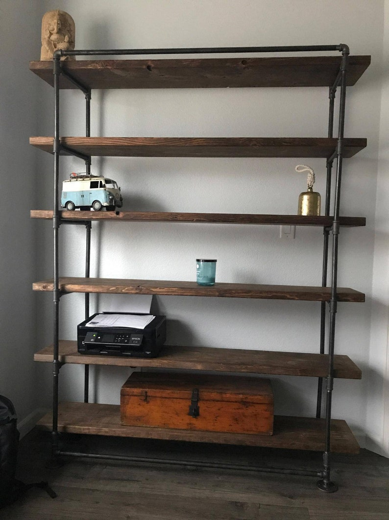 Industrial Metal Reclaimed Wall Unit bookcase  Home Office image 0