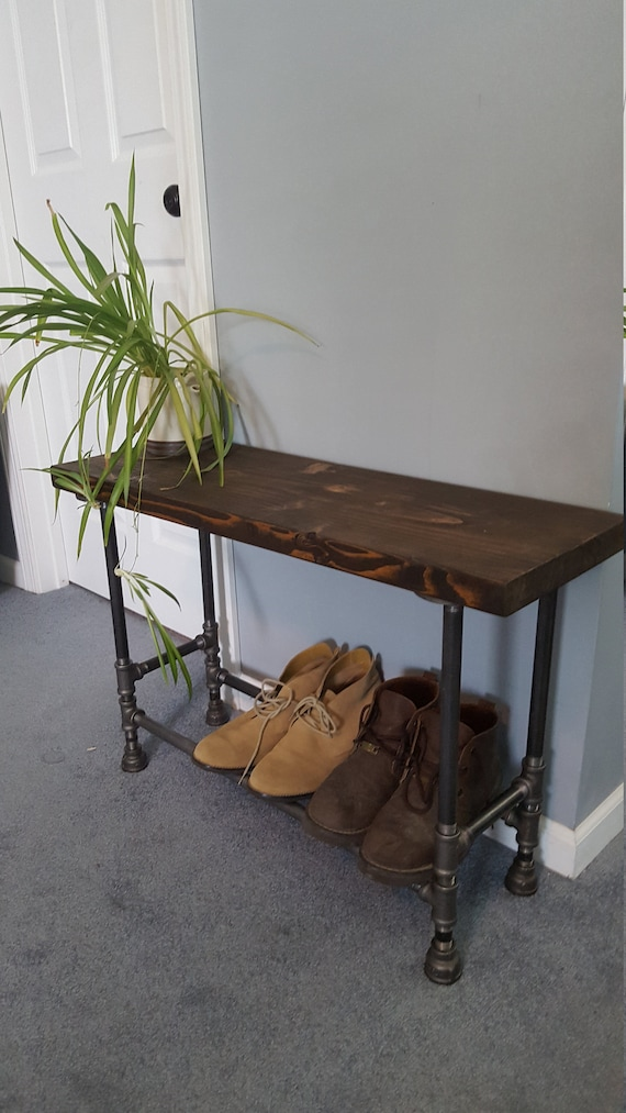 Admirable Industrial Entryway Bench With Shoe Storage Entry Bench With Storage Shoe Storage Bench Mudroom Bench Rustic Bench Farmhouse Bench Gmtry Best Dining Table And Chair Ideas Images Gmtryco