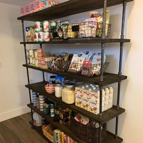 Pantry Shelving, Kitchen Storage, Custom Pantry Shelves, Pantry Storage,  Pantry Organization, Open Shelving, Industrial Shelving Unit,