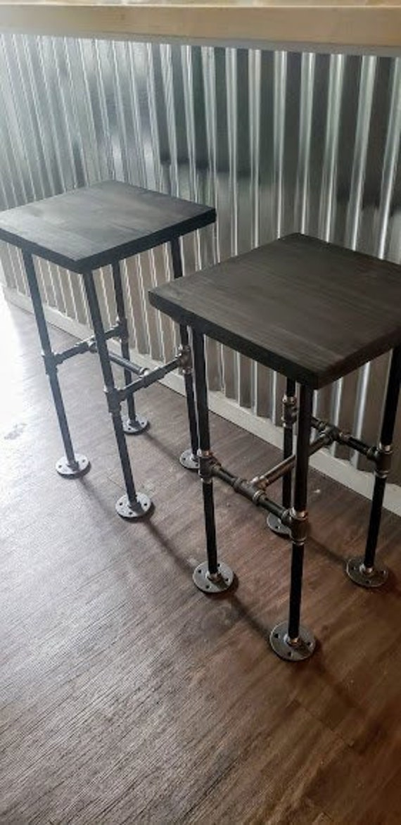 Wondrous Industrial Pipe Bar Stools Bar Stools Counter Height Stools Pub Stools Wood And Pipe Stools Urban Seating Bar Seating Table Seating Evergreenethics Interior Chair Design Evergreenethicsorg