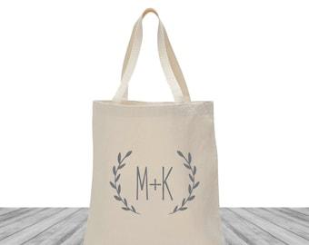 Monogrammed Tote Custom Canvas Bag Wedding Welcome Bags Wedding Bags Welcome Bags Custom Totes Personalized Tote Bags 1585 Tote Bags