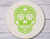 Halloween Coasters, Halloween Party, Cocktail Coasters, Party Coasters, Dia De Los Muertos, Day of the Dead, Skull Coasters, 1412