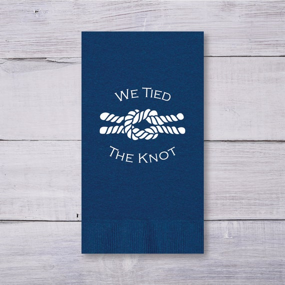 Nautical Guest Towels: Nautical Rope Napkins Wedding Napkins Guest Towels Party