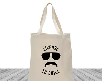 Bachelorette Bags, Tote Bags, Wedding Bags, Custom Totes, Bachelorette Tote Bags, Bachelorette Totes, License to Chill Tote, 1493