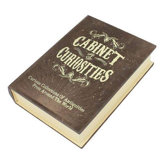 Boîte de rangement de curiosités de style antique en forme d'une boîte de faux livre livre cabinet de curiosités