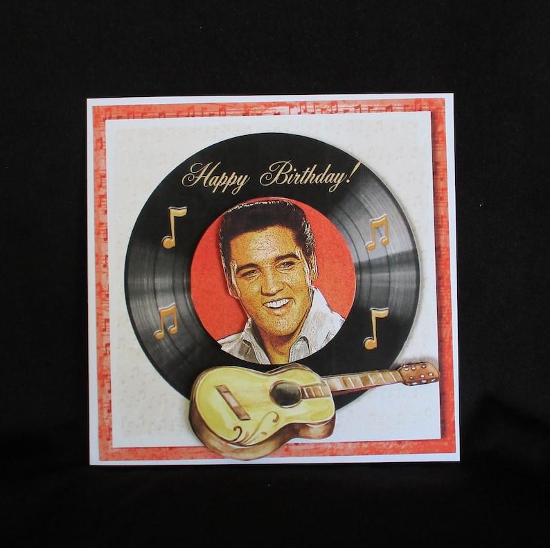 Elvis Birthday Card Happy Male Or Female