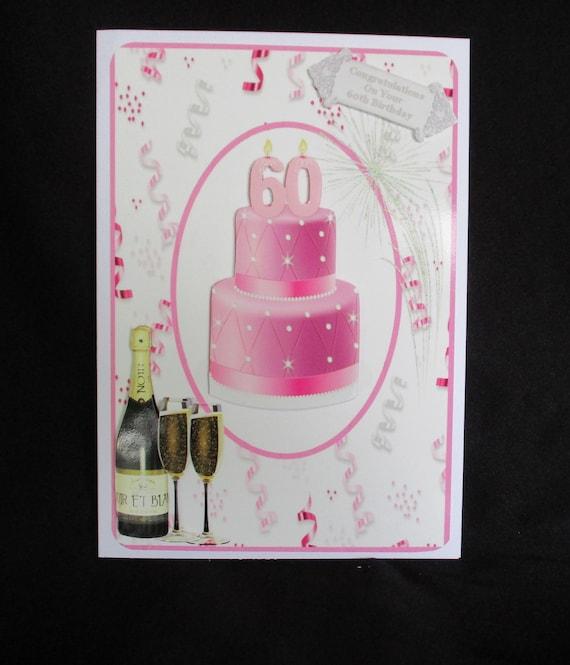 60th Birthday Card Happy Female 60