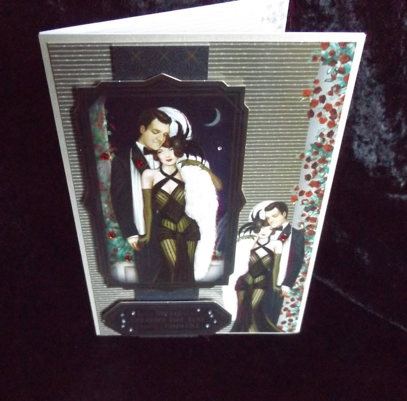 A5 Father/'s Day Card Birthday or Anniversary Card Handmade in the UK 3 D Handmade Greeting Card Wedding Card Couple under Moonlight