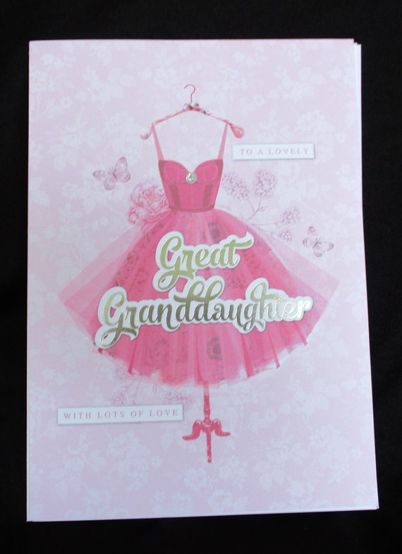 Great Granddaughter Birthday Card Handmade Any