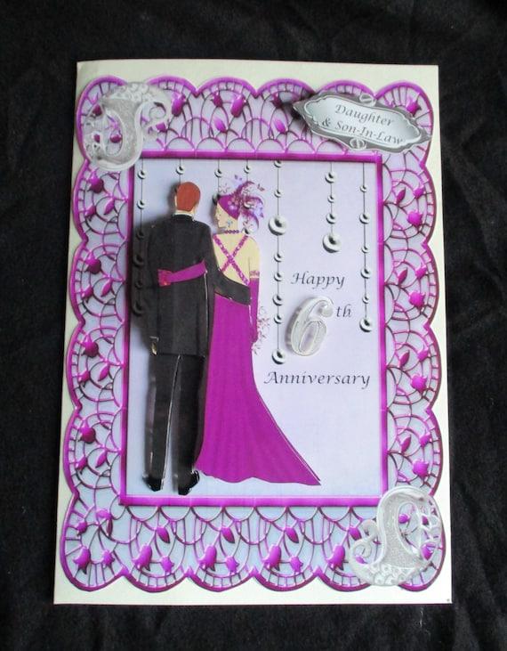 Handmade Personnalisé corail 35th Anniversaire De Mariage Carte Mari Femme Couple