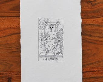 The Emperor - Original Drawing - Handmade Paper