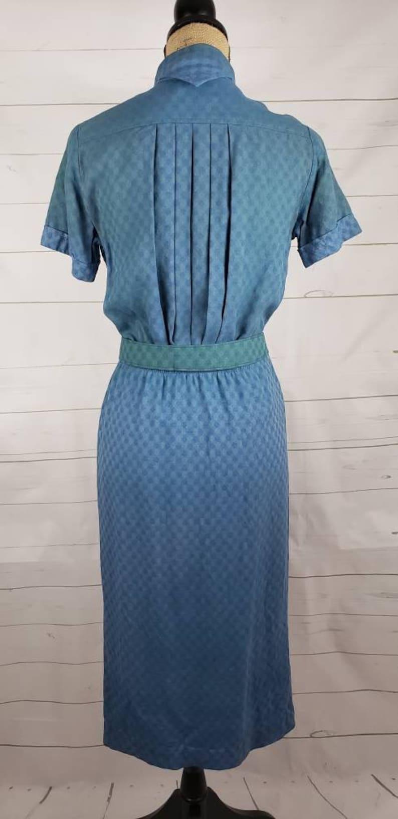 Vintage Dress  Retro Dress  1950/'s Dress  1960/'s Dress  Gingham Dress  Plaid Dress  Blue Dress  Green Dress  Day Dress  House Dress