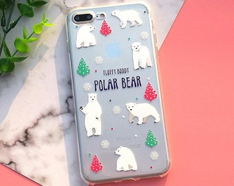 82fc6075e0 Custom Design Polar Bear iPhone Case Back Cover Soft Silicon Case For iPhone  X 8 8 Plus 7 6 6S Plus 5 5S 5SE 011