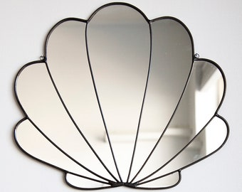 Large Stained Glass Seashell Mirror