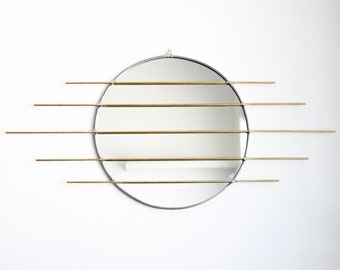 The  Sekcja - Circle Mirror with Brass Detail